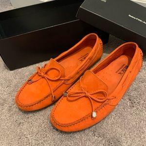 Saks Fifth Avenue Orange Suede Shoes  8 B